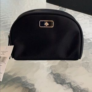 NWT Kate Spade Black New Small Dome Cosmetic Bag!